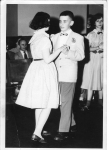 Cutter School 6th grade dance.  Carol Hathaway, George Ducharme    In Back Glorianne Nigro.    Submitted by Peg Ducharme