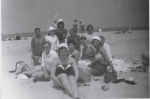 Beach Bums  Kneeling Sandy Edmonds, Pat Deal, Kay Russo, Portia Williams, Anne Parker  Seated Judy Norton, Jane Beggan
