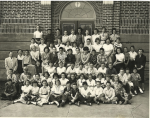 Pierce Grammar  School Graduating Class      Top Row .. 3rd from Left Fred Jarvis, 4th Fred Strachan .. 8th Heather Sh