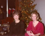 Sandra Mangurian and Mimi Allen Black at Christmastime--30+ years ago! (Judy Ditmars was the photographer.)